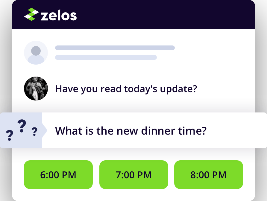 Zelos dashboard